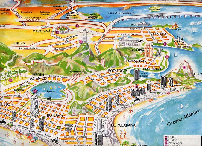 Picture Map of Rio
