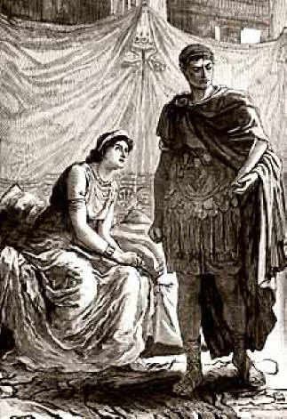 After Antony's death, Cleopatra was taken to Octavian ...