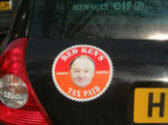 Red Ken car sticker: A car rental company's comment on the London congestion charge
