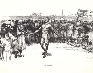<i>The Bamboula</i>, circa 1880, depicting a dance ritual in Place Congo Hogan Jazz Archive, Tulane University &#8221; width=&#8221;390&#8243; height=&#8221;309&#8243; /></td> </tr> <tr> <td> <p align=