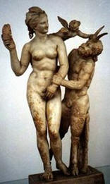 Greece 1999---'Aphrodite and Pan'  in National Archaeological Museum in Athens.jpg
