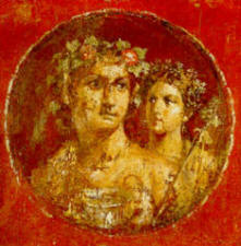 Medallion with Dionysus and Maenad