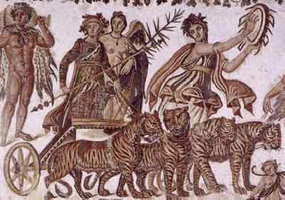 Mosaic: Dionysus in procession
