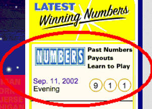 9/11 New York Lottery results