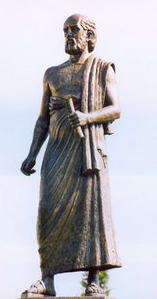 Statue of Aristarchus at Aristotle University in Thessalonica, Greece